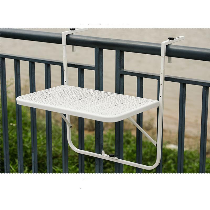 Balcón barandas metálicas colgantes de mesa mesa de hierro forjado jardín colgante plegable de la mini pared sencilla Europea