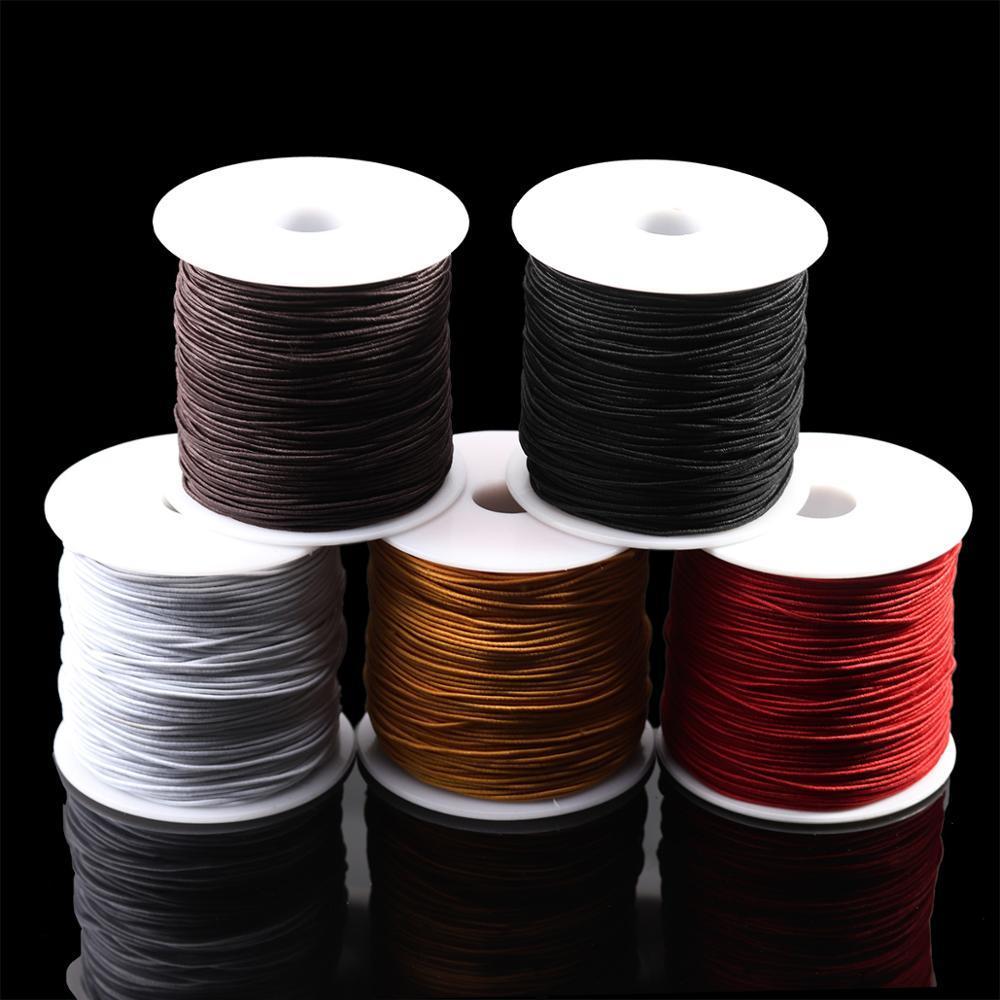 10 m / Los Runde wulstige elastisches Seil für Armbänder elastische Linie DIY Handarbeit Armband Perlen Kristall Schmucksachen, die sechs Farben