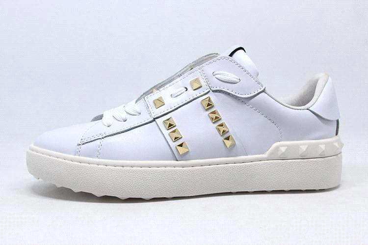 Marque Homme et Femmes Basiques Casual Chaussures en Cuir Véritable Hommes Rivet Chaussures Rondes Toe Lace up Plate-forme Plate-forme