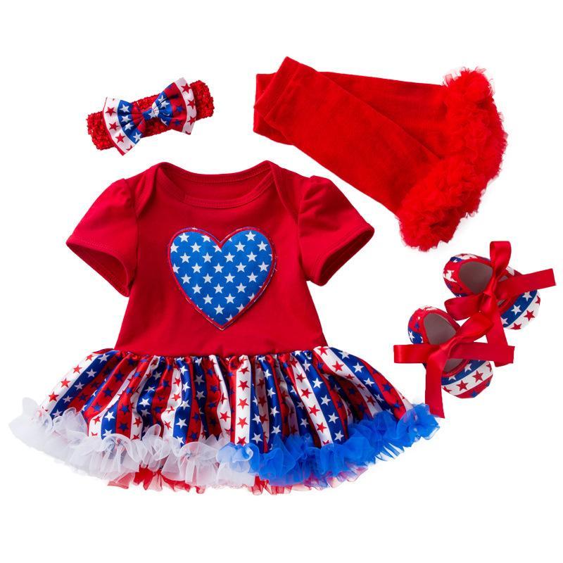 Baby-Kinder-Designer-Kleidung Designer-Kind-Baby-Mädchen-Kleid-Prinzessin-Kleid Röckchen Säuglingsbaby Neugeborenes Mädchen-Rock 4 Stücke Sätze