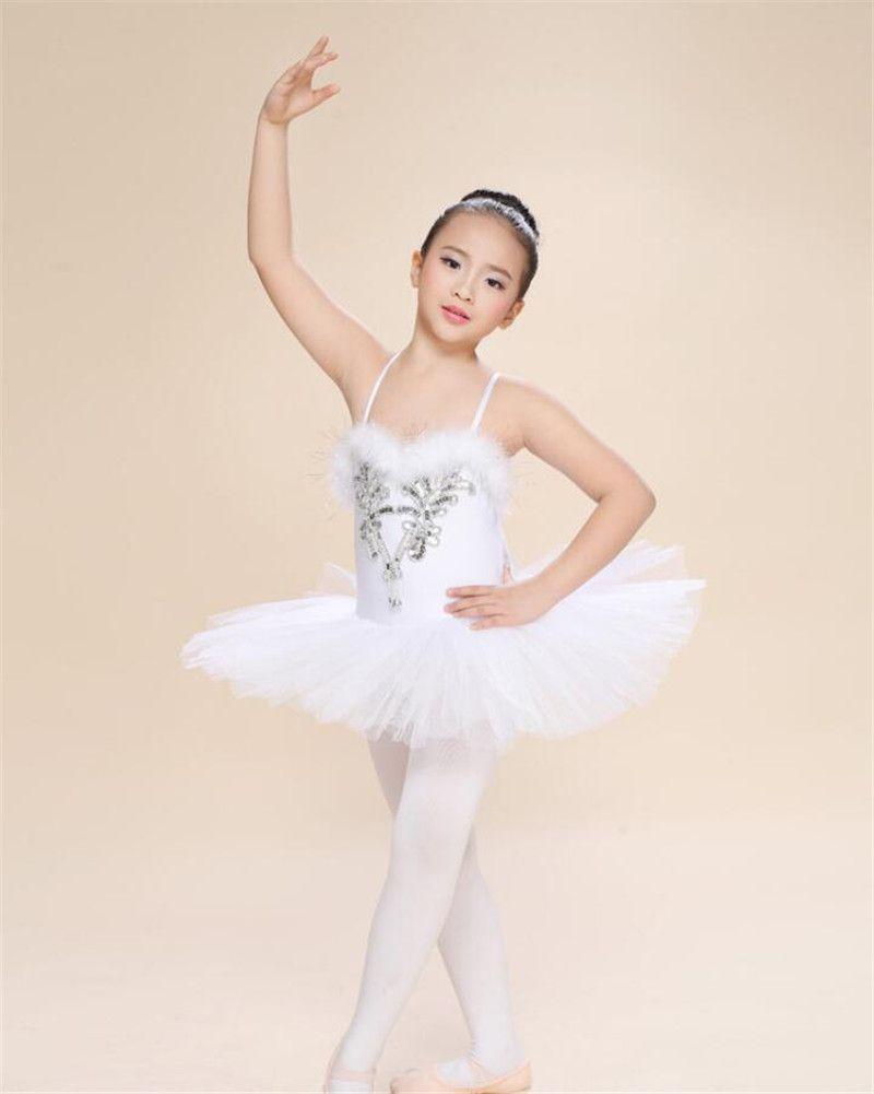 Новые Дети Девушки Платье Балерины Белое Лебединое Озеро Балетные Костюмы Детский Ремень Танцевальная Одежда Костюм Danse Classique Enfant