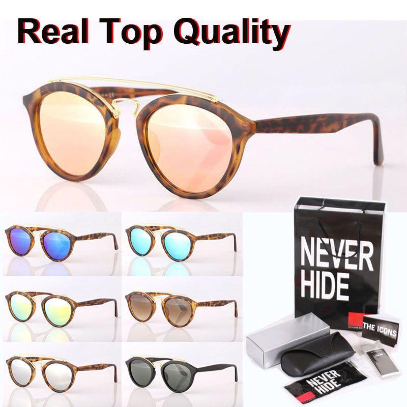 Gafas de sol lente de cristal marca gafas de sol Hombres Mujeres Gatsby retro Gafas tonos con la caja original, paquetes, accesorios, todo!