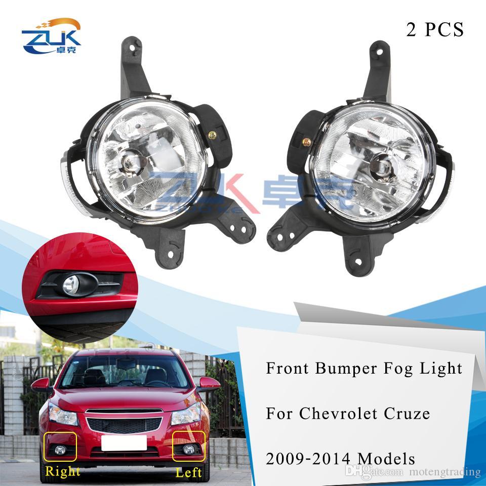 ZUK 2PCS Front Bumper Driving Fog Light Fog Lamp Foglight For Chevrolet Cruze 2009 2010 2011 2012 2013 2014 Anti-Fog Light Lamp