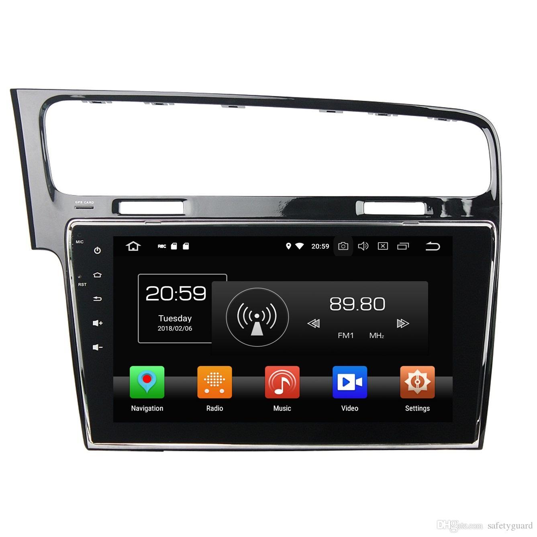 "4GB + 64GB Octa Core 1 din 10.1 ""VW 폭스 바겐 골프 용 안드로이드 8.0 차량용 DVD 플레이어 7 2013 2014 2015 RDS 라디오 GPS WIFI 블루투스 미러 링크"