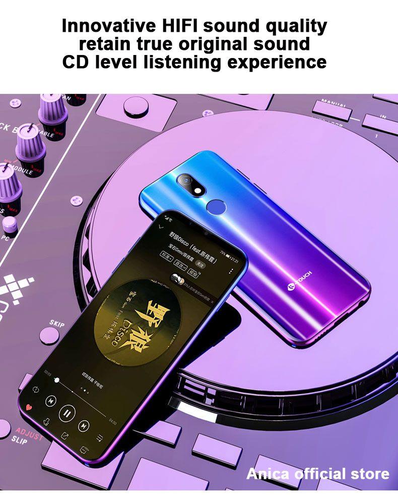 """3.5 """"الشاشة الكاملة KTouch-M16 4G LTE 3GB + 64GB رباعية النواة MTK6739 Android8.1 ID الوجه بصمة GPS 13MP كاميرا الهاتف الذكي مفتوح الخليوي"""