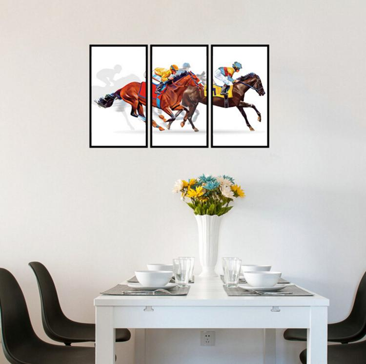 Equestrian sport frame decoration painting wall stickers home decor living room bedroom art decals wallpaper removable