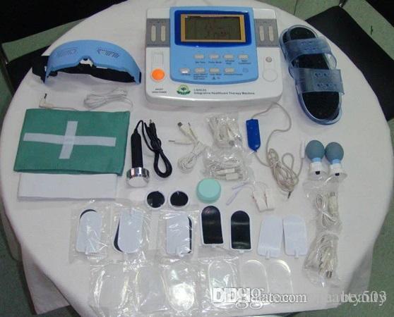Machine à décontractant musculaire numérique efficace avec laser à ultrasons chauffage infrarouge e-ventouses EA-VF29