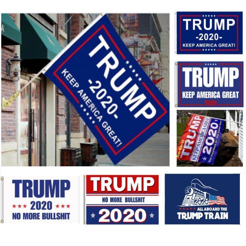 90 * 150cm وإبقاء أمريكا العظمى دونالد للرئيس حملة راية 5 أنماط ترامب 2020 العلم دونالد ترامب العلم قطار حديقة أعلام
