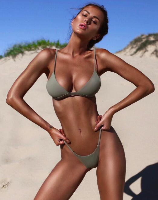 Design-Bikini-gesetzte Frauen-Split feste Badeanzug-Bikini-Klage-Sport Strand Slip ein Stück Mädchendamen yakuda flexible stilvolle Trainingsbekleidung