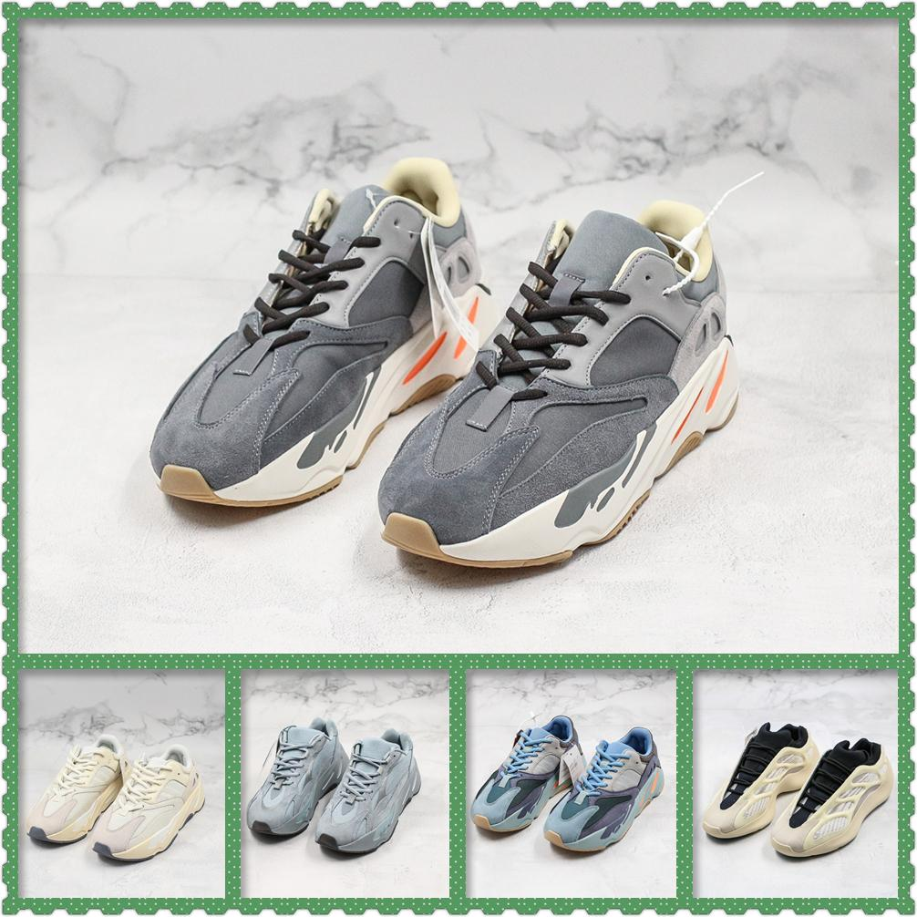 Neue 700 kanye Welle Läufer reflektierende Trägheit Kohlenstoff teal blauen Männer Designer-Schuhe Dienstprogramm schwarz statische Magnet Frauen Turnschuhe laufen