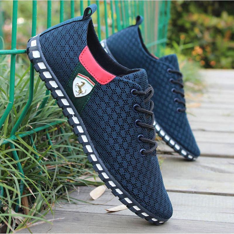 Sommer Männer Freizeitschuhe für Männer Schuhe Outdoor-Sneakers Air Mesh Wohnungen Marke Breathable Sommer-Schuhe Schuhe Hombre