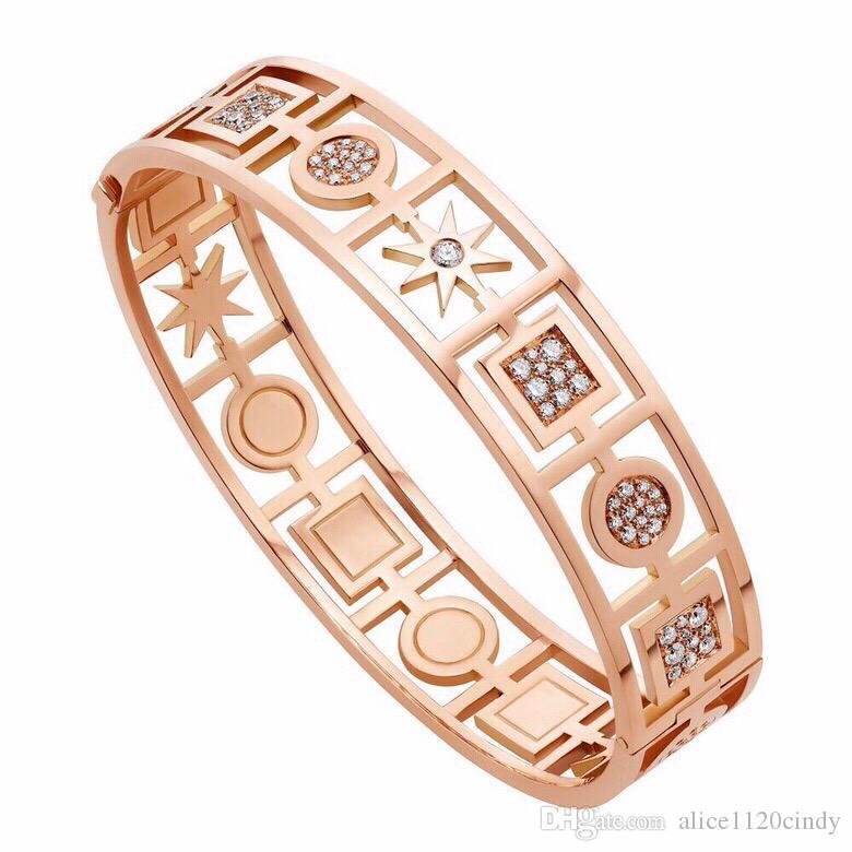 Brief Square//Round Geometric Bracelets /& Bangles