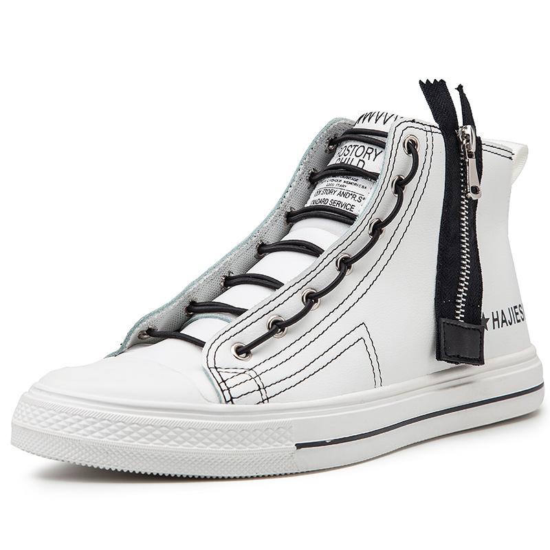 Европейских мужские высокого верха обуви Zipper обувь мужская повседневная обувь Мужская мода Platfom
