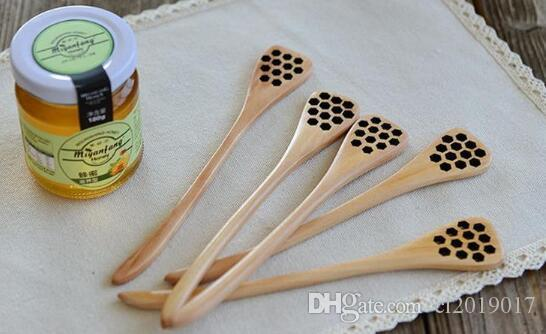 Niedliche Holz Kreative Schnitzerei Honig Rühren Honig Löffel Boneycomb Geschnitzte Honig Dipper Kitchen Tool Besteck Zubehör