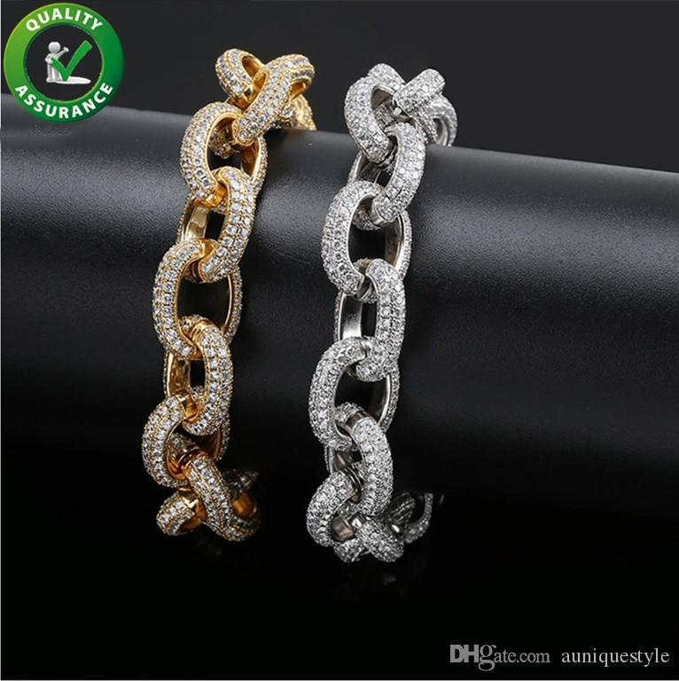 Mens Bracelets Luxury Designer Bangles Hip Hop Jewelry Pandora Style Charms Gold Lucky Iced Out Chains Diamond Tennis Bracelet Wedding Love