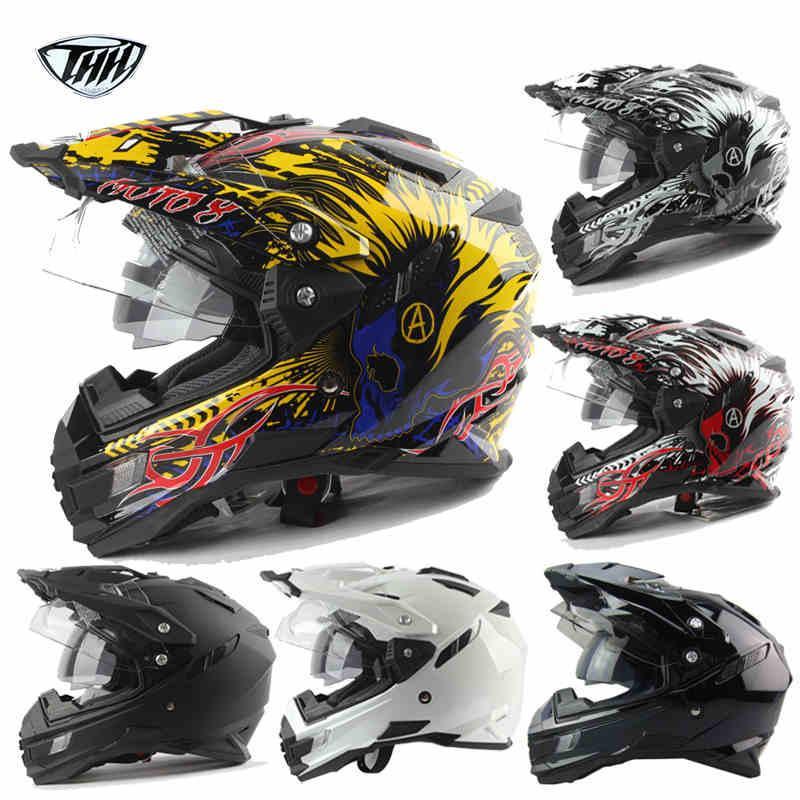 Hot sale THH Helmets motocross off road helmet casco moto racing motorcycle helmets para motocicleta full face helmet windshield