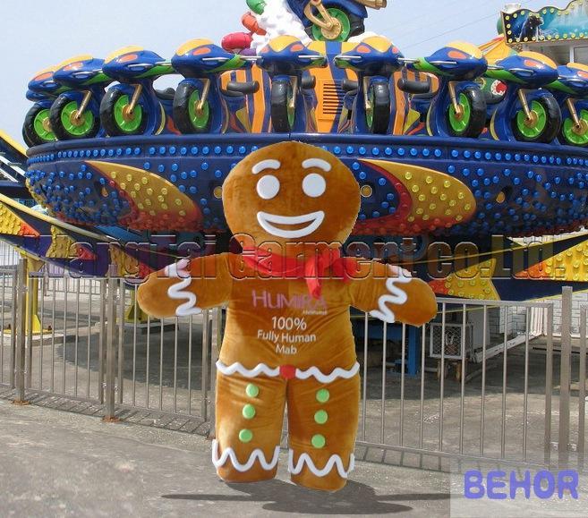 Hochwertiger Gingersnap Maskottchen-Kostüm Karneval Zweig Parade Qualität Clowns Halloween-Party-Aktivität Fancy Wurm-Ausstattung Verschiffen frei