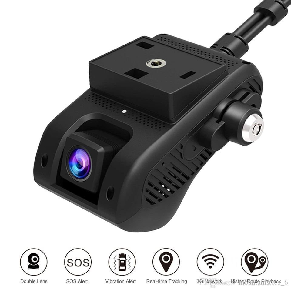 Neu EdgeCam Pro 3G Auto DVR Dash Camra Auto Kamera mit HD 1080P Dual Kamera GPS Tracker Fernüberwachung Live Streaming