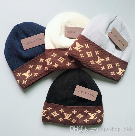 Yeni Tasarım Moda Sıcak Satış Kış Ve Sonbahar Sıcak Şapka Yüksek Kaliteli Kürk Astar Kap Erkek Kadın Örme Caps Elastik Ayarlanabilir L11217