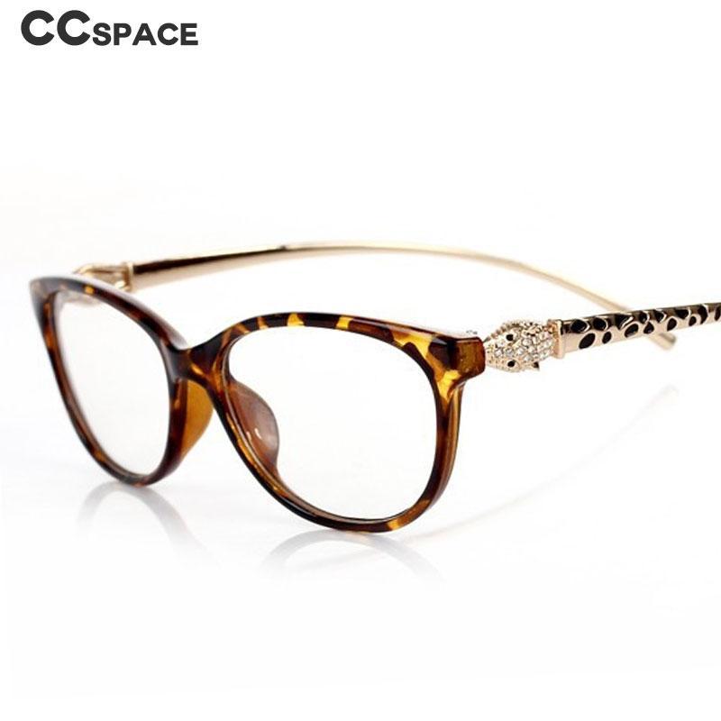 47146 رئيس ليوبارد عين القط نظارات إطارات الرجال النساء بصري أزياء نظارات الحاسوب