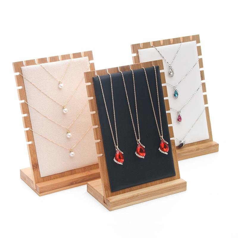 2020 Bamboo Necklace Holder Stand Jewelry Display Jewelry Organizer Necklace Organizer Storage Guardar Collares Rangement Bijoux From Dushiring002 38 41 Dhgate Com