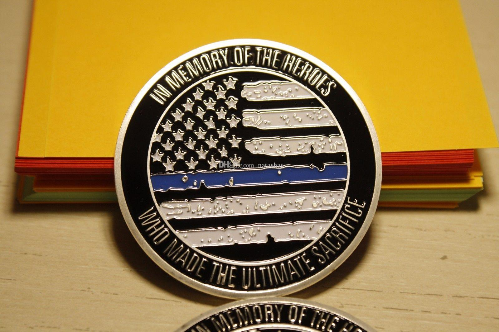 "Blue Lives matter large ~2/"" Challenge Coin BLM law enforcement police"