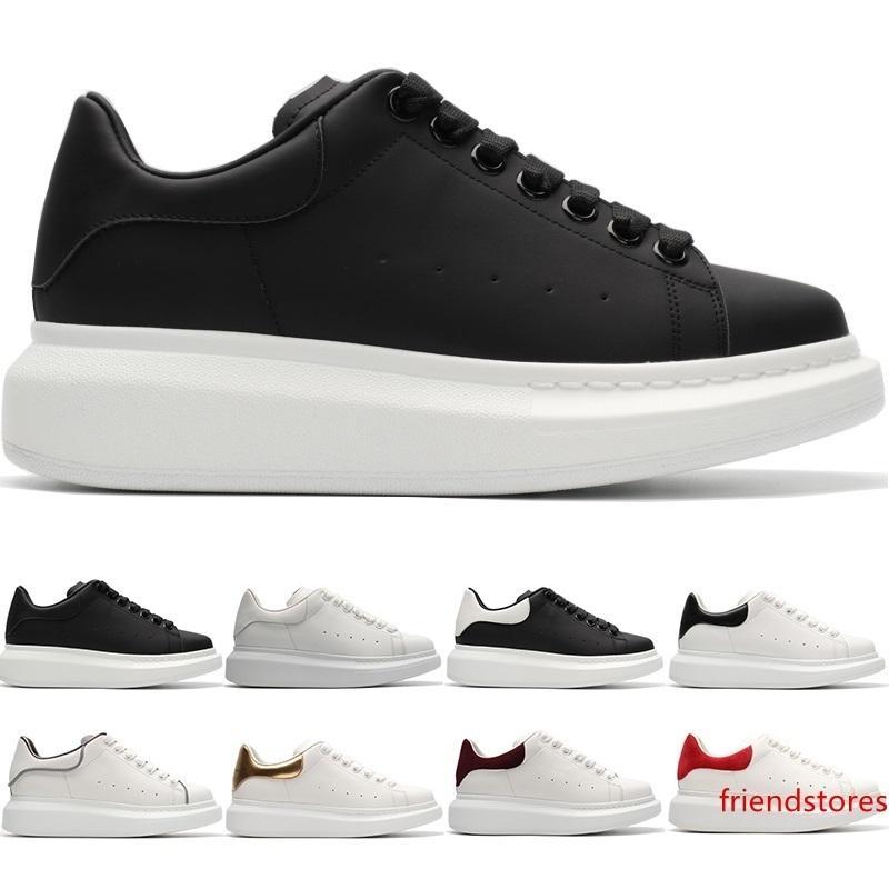 2019 Designer Shoes Casual Boy Fille Hommes Femmes Blanc Noir Or Rouge Chaussures en cuir Mode plateforme classique Entraîneur Sneakers Taille 36-44