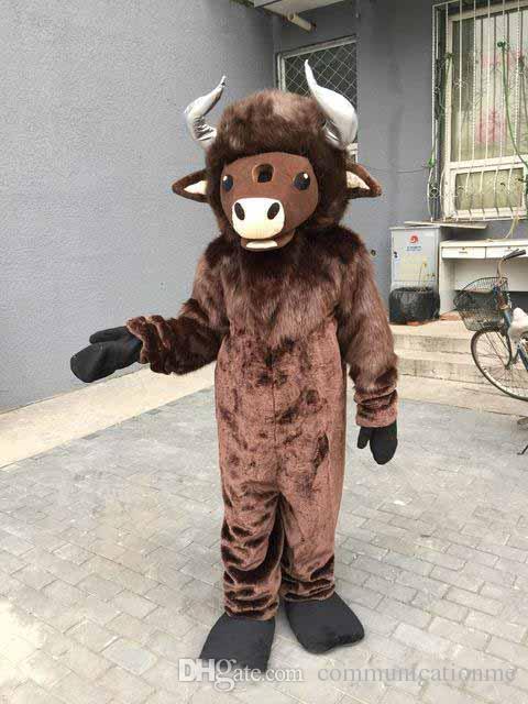 Profesional personalizado Bull traje de la mascota de dibujos animados de corrida de toros OX animal personaje ropa fiesta de Halloween fiesta de disfraces