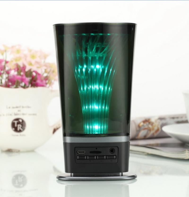 20pcs LED-Licht tragbaren Bluetooth-Lautsprecher drahtlose Bluetooth-Stereo-Lautsprecher im Freien Bass Freisprecheinrichtung Mikrofon FM AUX
