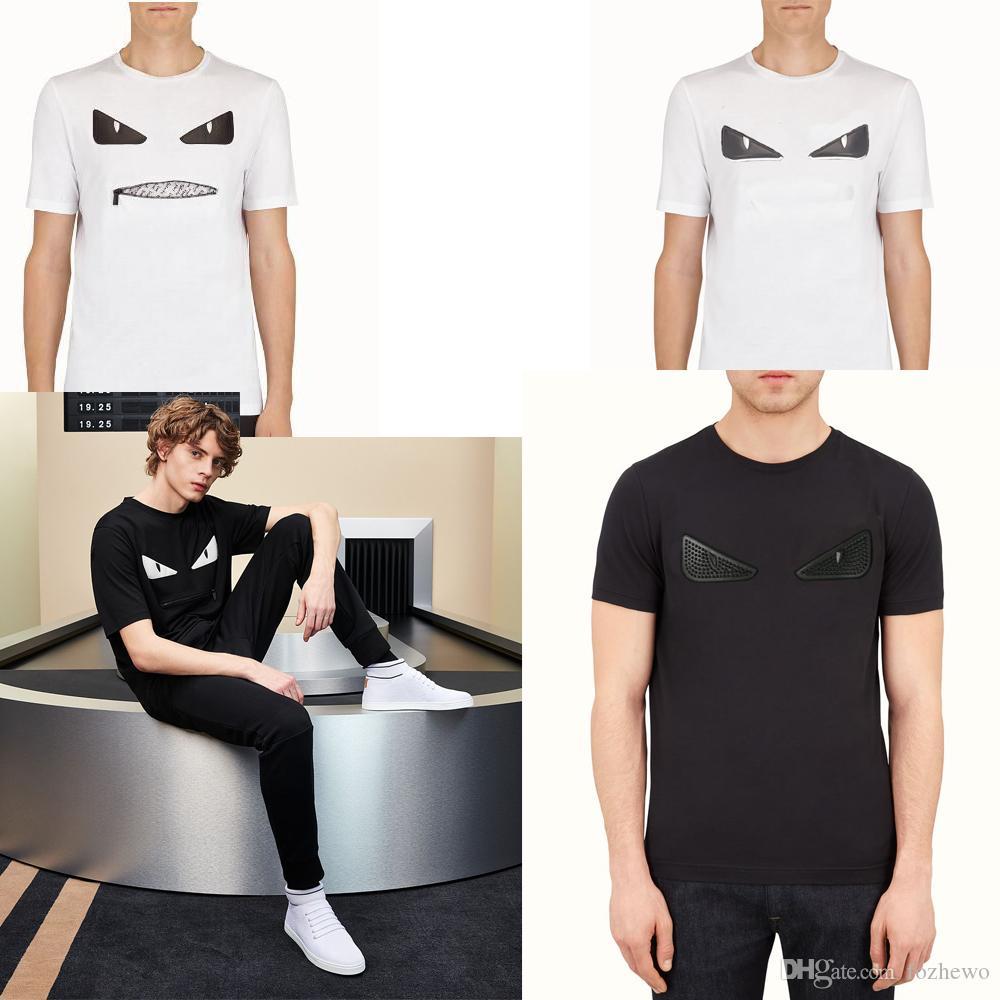 19ss ROMA italiana Diseñador para hombre camisetas de marca de ropa de los hombres de verano de gran tamaño camiseta con diamantes de imitación de alta calidad Tops