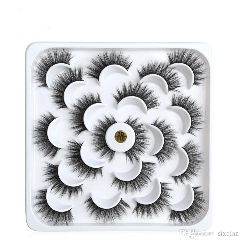 Neue 10 Paar Mode Falsche Wimpern Wiederverwendbare Gefälschte 3D Nerz Wimpern Make-Up Natürliche Dicke Lange Wimpernverlängerung