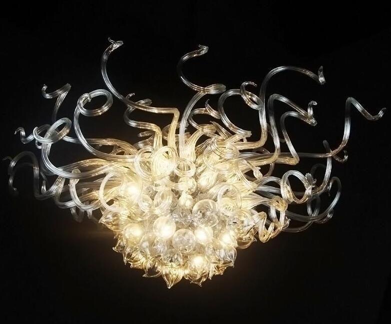 I moderni Pendant Light Art Home lampade soffiato Led Light Lampadario di cristallo Lampadario di illuminazione Sala da pranzo lampade a sospensione