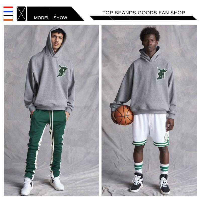 Designer Rue Tide La peur de Dieu sweat à capuche FOG 5 Celtics Sweat-shirts Hommes Automne Hommes Hip Hop Mode Casual Male Sweat à capuche