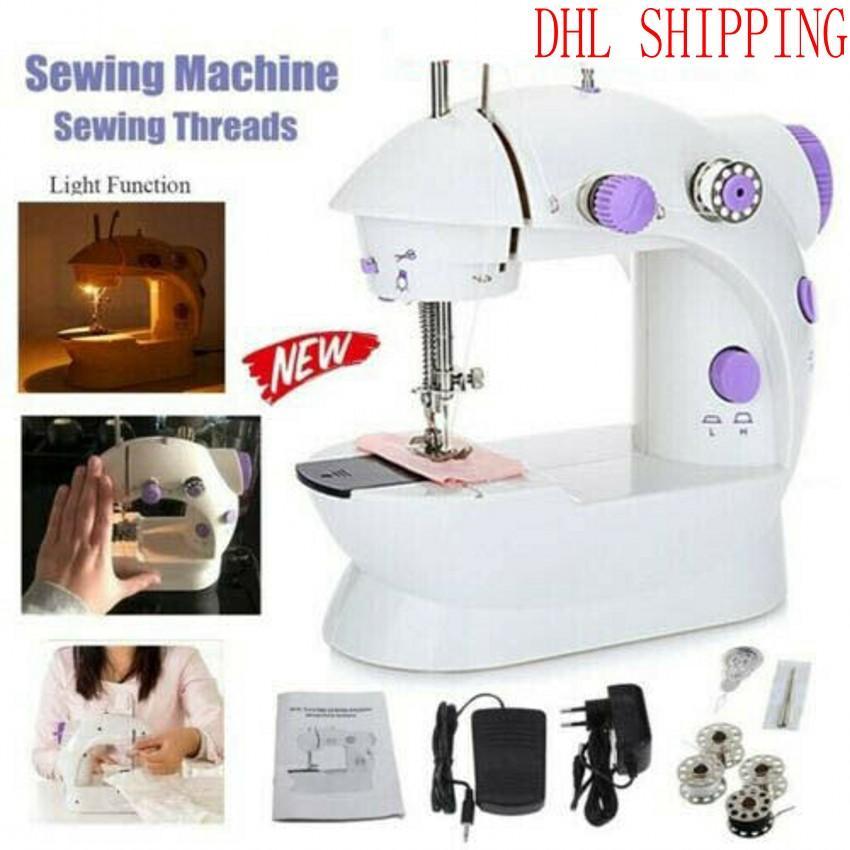 FY7043 Mini portátil de mano eléctrico Máquinas de coser de puntada cose la costura inalámbricos familia uso de telas de la ropa Máquina de coser eléctrica