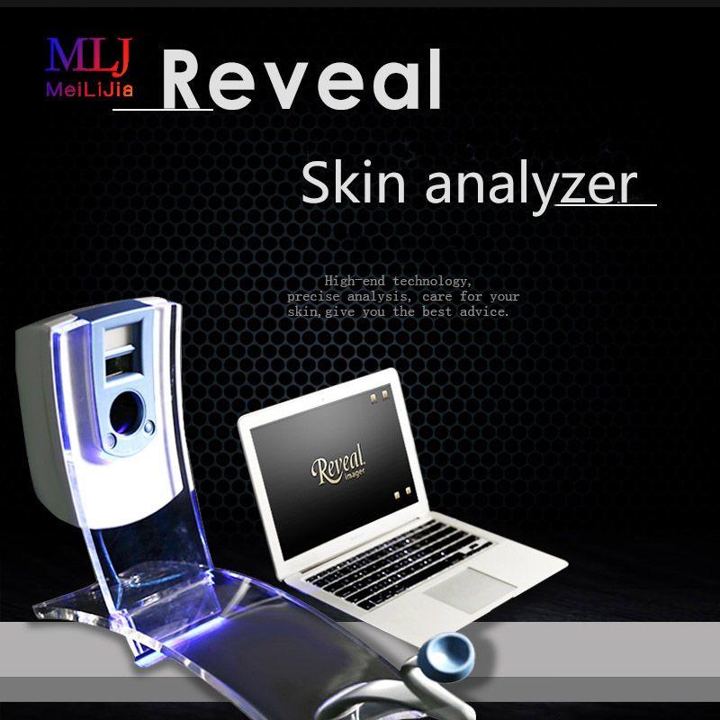 ¡Envío gratis! Reveal Digital probador de piel máquina analizador de piel facial analizador de piel inteligente Reveal probador máquina