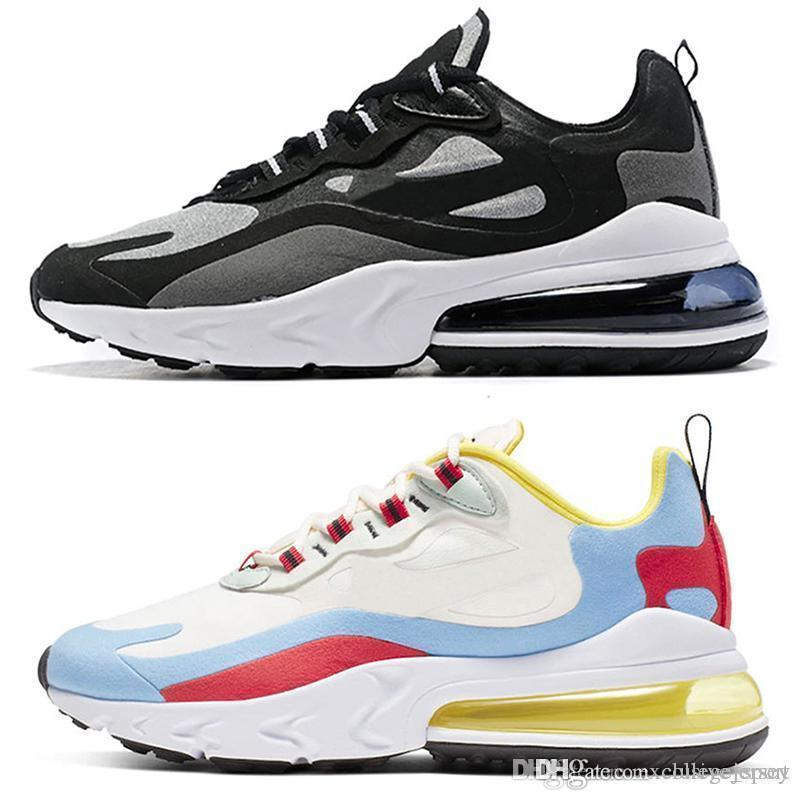New Bauhaus Reagir Running Shoes Homens Mulheres Optical Branco Preto Mens Designers instrutor respirável Sports Sneakers Tamanho 5.5-11