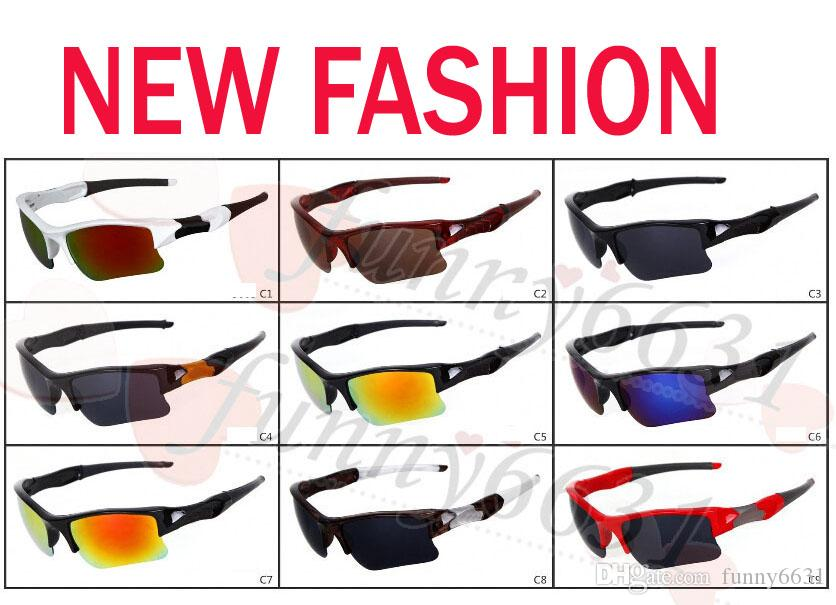 Verão marca nova moda masculina de vidro de bicicleta óculos de sol esportes óculos de condução óculos de sol de ciclismo 9 cores de boa qualidade frete grátis