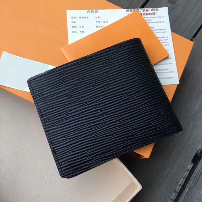 Femmes / Hommes Porte-cartes eau courte ondulation porte-monnaie de haute qualité célèbre marque véritable porte-monnaie en cuir avec boîte Livraison gratuite 15