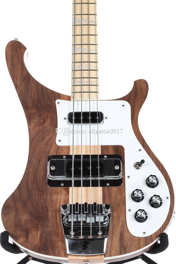 Nuovo 4003W Naturale Noce Basso 4 corde basso NOCE corpo epoca ric 4003 Basso collo della chitarra elettrica Thru Body One PC collo corpo