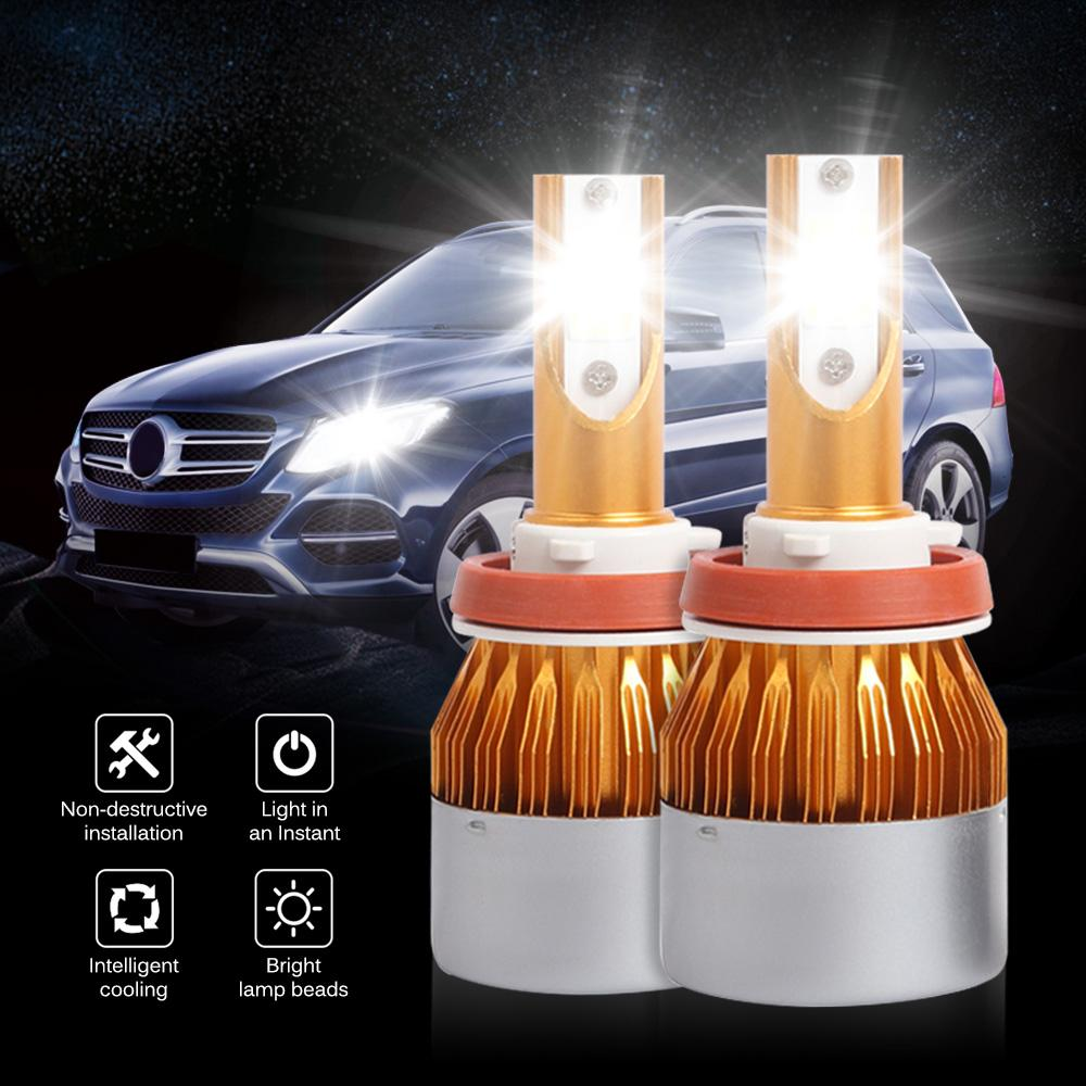 2 Pcs Car LED Headlight Bulbs 6500K Lamp LED Car Lights Headlights 6500K 8000LM 36W H1 H3 H4 H7 9005 9006 Bulb