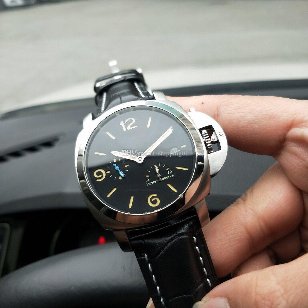 남성 자동 기계 시계 디자이너 316 스테인레스 스틸 케이스 남성 시계 남성 44cm 벨트 캐주얼 시계