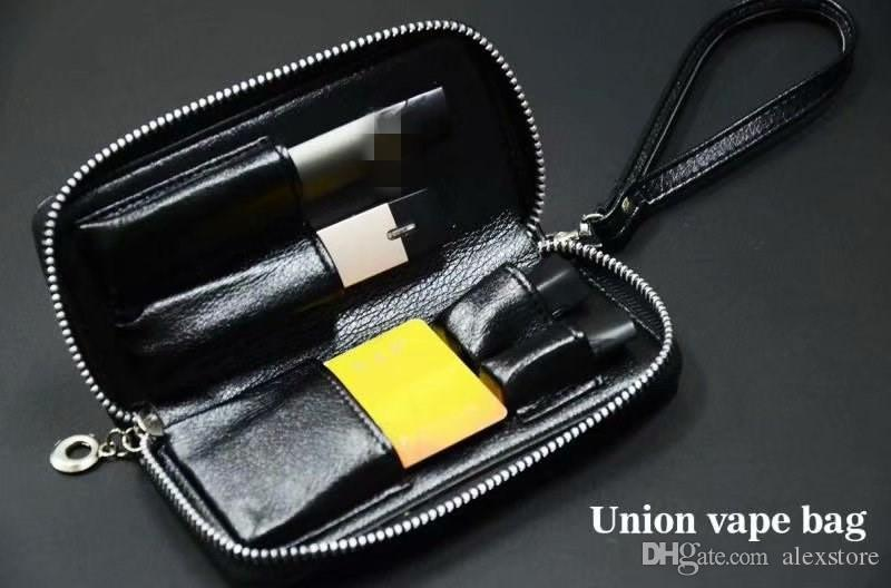 Original Megavape Union Vape Bag Handbag Carrying Case Pocket Leather Lanyard Pouch for Jul MT RELX Infinix Pod Kit Flat Vaporizer DHL