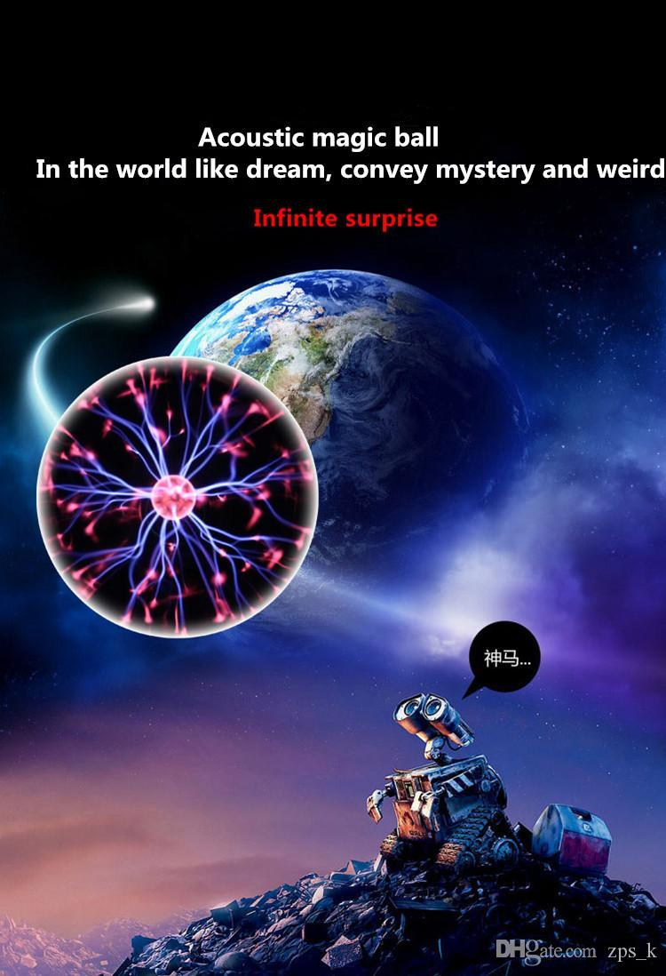 New Style Automobile Sound-controlled Touch Ion Ball Automobile LED Decorative Lamp Car Magic Induction Ball Hot Sale