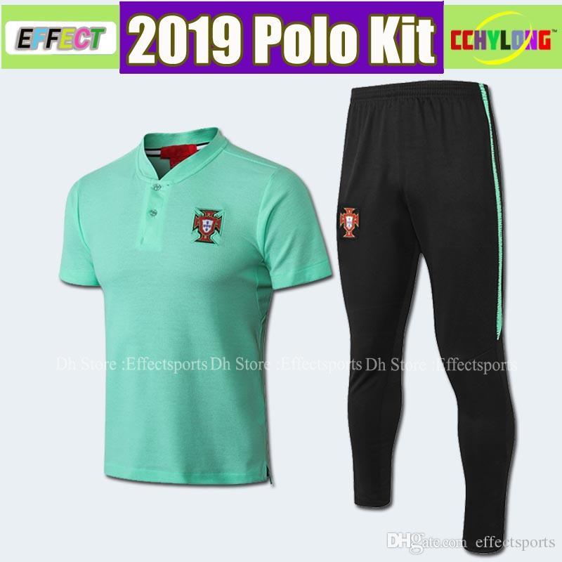 size 40 f61f7 201da 2019 2018 2019 Portugal National Polo Shirt Kit PEPE 7 RONALDO J.MOUTINHO  EDER 10 J.MARIO BERNARDO NANI 20 QUARESMA 2018 Football Uniform From ...