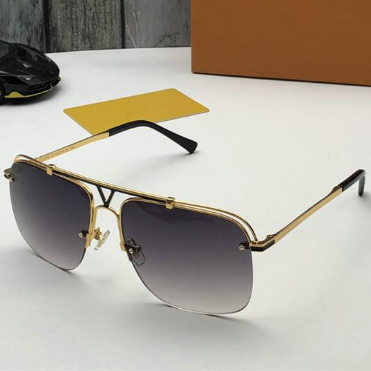 Luxury 2020 designer sunglasses For womens Fashion Sunglasses Wrap Sunglass Half Frame Coating Mirror Lens Carbon Fiber Legs Summer Style