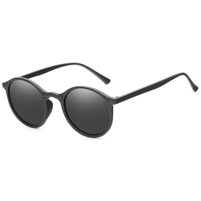 Мода Круглый поляризованные очки ретро мужчин очки Brand Design Женщины Оттенки Солнцезащитные очки UV400 очки óculos De Sol siNIJ