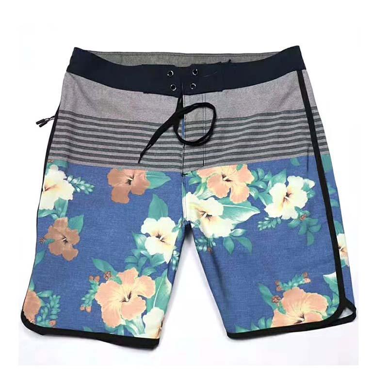 Uomini bicchierini del bordo di stampa floreale fasciatura bicchierini della spiaggia impermeabile Quick Dry Boardshorts alta qualità Surf Sport Pantaloncini Swimwear 050.423