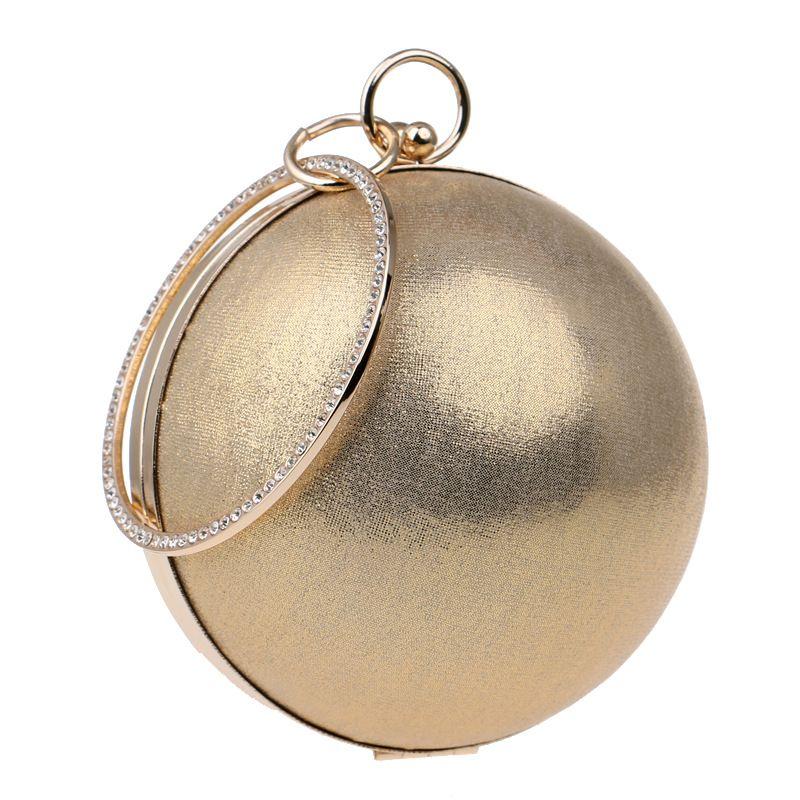 circular bag for wedding/banquet/party/porm Woman evening bags high quality tote handbag Clutch bag decorated with Diamonds