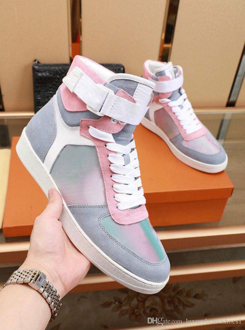 2019 chaussures LUXEMBOURG Designer Rivoli Boombox Chaussures Casual cuir 3M Blanc Marque Entraîneur Hommes Low Top Loisirs Mode Chaussures Avec boîte
