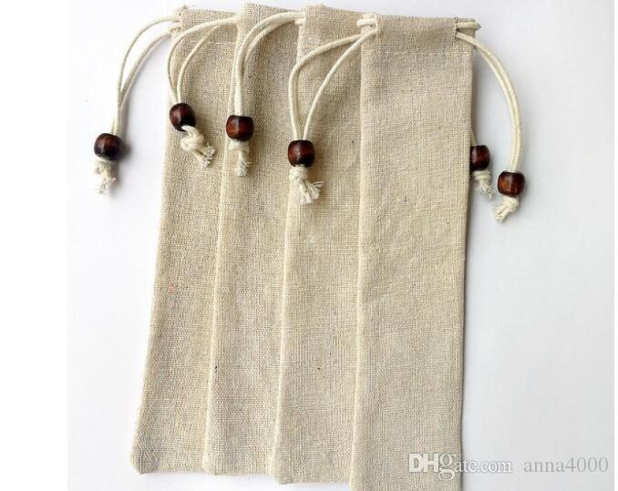 Borsette in cotone con borsa con tasca in lino di cotone